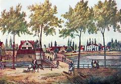 Historische Ansicht vom Sandtor, eines der Tore in der Hamburger Stadtbefestigung.