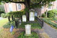 Grabstätte Klopstock - Friedhof Christianskirche Hamburg Ottensen.