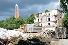 Fotos aus dem Hamburger Stadtteil Horn - Bezirk Hamburg Mitte; Abriss an der Sievekingallee / Horner Weg.