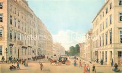Alte Ansicht vom Rödingsmarkt in der Hamburger Altstadt ca. 1846.