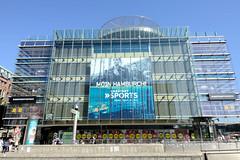 Fotos aus der Hamburger Innenstadt, City; Stadtteil Altstadt - Bezirk Mitte. Die Filiale Karstadt Sport an der Hamburger Mönckebergstraße wird 2020 geschlossen - der Räumungsverkauf hat begonnen.