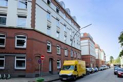 Fotos aus dem Hamburger Stadtteil Neustadt, Bezirk Hamburg Mitte; Wohnhäuser in der Reimaurusstraße.