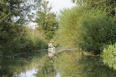 Freizeitparadies Hamburger Vierlande - Kanus im Neuengammer Durchstich.