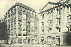 Historische Ansicht vom Thalia-Hof am Altstertor, ca. 1930. Das Gebäude wurde 1922 errichtet - Architekten Hans und Oskar Gerson.