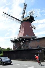 Fotos aus dem Hamburger Stadtteil Reitbrook. Die Reitbrooker Mühle ist eine im Jahr 1870 erbaute Windmühle - zweigeschossiger Galerieholländer. Die Reitbrooker Mühle ist eine von neun im hamburgischen Gebiet erhaltenen Windmühlen und die einzige, die