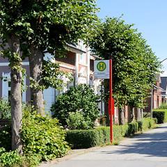 Fotos aus dem Hamburger Stadtteil Ochensenwerder, Bezirk Bergedorf. Bushaltestelle Oortkaten im Ochsenwerder Elbdeich.
