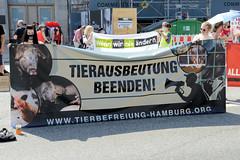 Demonstration für die Schließung aller Schlachthäuser - Jungfernstieg in Hamburg, 08.08.20.