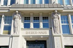 Fotos aus dem Hamburger Stadtteil  St. Georg, Bezirk Hamburg Mitte; Bieberhaus am Hachmannplatz.