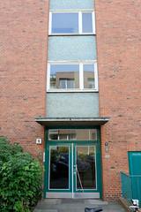 Fotos aus dem Hamburger Stadtteil Neustadt, Bezirk Hamburg Mitte. Siedlungsbau an der Rothesoodstraße im Baustil der 1960er Jahre - Architekt Hermann Schöne.