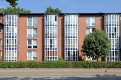 Fotos aus dem Hamburger Stadtteil Borgfelde, Bezirk Hamburg Mitte;  Neubauten, Stiftswohnungen an der Bürgerweide.