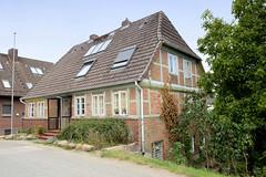 Curslack ist ein Stadtteil  im Bezirk Hamburg Bergedorf. Curslack ist einer der vier Stadtteile, die zusammen die Hamburger Vierlande bilden. Fachwerkgebäude am Curslacker Deich.