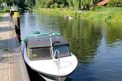 Fotos von der Stör-Wasserstraße - Wasserweg zwischen dem Schweriner See und dem Elde-Müritz-Wasserweg; Anleger in Plathe.