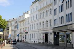 Bilder aus dem Hamburger Stadtteil St. Georg, Bezirk Mitte; historische Architektur / Wohnhäuser im Holzdamm.