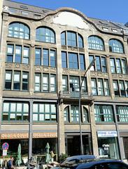 Fotos aus der Hamburger Innenstadt, City; Stadtteil Altstadt - Bezirk Mitte. Kontorhaus Georgshof am Georgsplatz, errichet 1906 - Architekt Wilhelm Fischer.