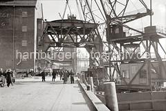 Demontage ein Hafenkrans im Altonaer Hafen; ca. 1938.