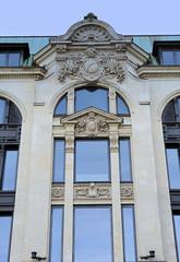 Historische Architektur in der Hamburger Innenstadt, Stadtteil Neustadt. Detail vom Giradehaus am Gänsemarkt - Kontorhaus für den gleichnamigen Verleger; errichtet 1896, Architekten Puttfarcken & Janda.
