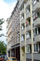 Bilder aus dem Hamburger Stadtteil Neustadt, Bezirk Hamburg Mitte; Wohnhäuser in der Poolstraße.