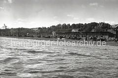 Fischereihafen Hamburg-Altona, Elbhang Wohnhäuser; ca. 1937.