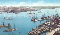 Hamburger Elbpanorama - Werftanlagen von Blohm + Voss, Altonaer Hafen / Anleger.