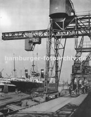 Historische Fotodokumente vom Hamburger Hafen.