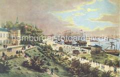 Historische Ansicht Hamburg St. Pauli, Landungsbrücken  / bildarchiv-hamburg.com