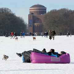 Winter in Hamburg - Bilder aus dem Stadtpark in Winterhude.