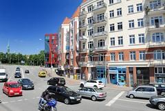 Gründerzeitgebäude am St. Pauli Fischmarkt - Strassenverkehr.