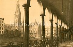 Historische Motive vom Hamburger Rathaus.