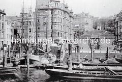 Historische Bilder aus Hamburg Altona - Fischereihafen, Köhlbrandtreppe.