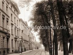 Bilder aus der Architekturgeschichte Altonas, historische Fotos der Palmaille.