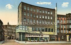 Das Kino Gloria-Palast Harburg / Ufa-Palast wurde 1930 eröffnet, Architekt Eugen Schnell - das Gebäude wurde 1944 durch Bomben zerstört.