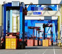 Containerumschlag HHLA Containerterminal Burchardkai - Hamburgbilder, Hafenfotos.