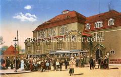 Historische Ansicht vom Bismarck-Bad, Hallenbad in Hamburg Ottensen - erbaut 1911, abgerissen 2007.