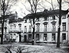 Altes Foto aus Altona - Häuser in der Palmaille.