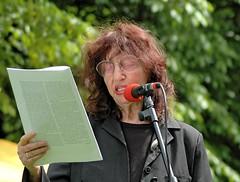 Teilnehmerin an der Gedenkveranstaltung Peggy Parnass bei der Marathonlesung.   (2006)