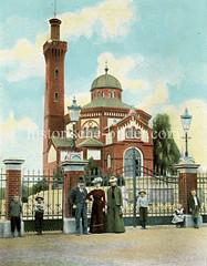 Historische Ansicht vom Alten Krematorium an der Alsterforfer Straße.