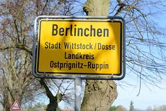 Berlinchen ist ein Ortsteil der Stadt Wittstock Dosse im brandenburgischen Landkreis Ostprignitz-Ruppin; bis   2003 bildete der Ort eine eigene Gemeinde.