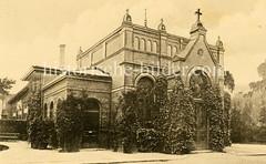 X0093351-kapelle Historische Aufnahmen vom Eppendorfer Krankenhaus in  Hamburg.
