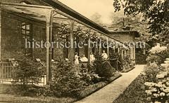 X00933472_haus-51_liegehalle Historische Aufnahmen vom Eppendorfer Krankenhaus in  Hamburg.