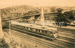 Historische Ansicht der Bahnstation Nagelsweg in Hamburg Hammerbrook.