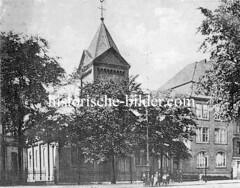Historische Ansicht der St. Marienkirche in Hamburg Ottensen.