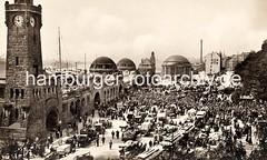 Altes Foto von den St. Pauli Landungsbrücken - ca. 1925.