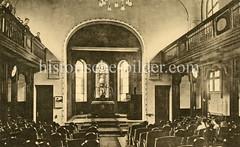 X00933491_vorlesungsgebaeude-kirche  Historische Aufnahmen vom Eppendorfer Krankenhaus in  Hamburg.