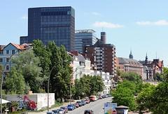 Bilder von Hamburg St. Pauli - Blick über die Hafenstrasse Richtung Landungsbrücken.