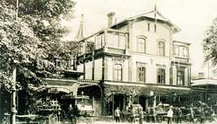 Historische Ansicht der Feuerwache Nr. 3 in der Glacischaussee in Hamburg St. Pauli .