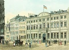 Historische Ansicht vom Stadthaus in der Neustadt, Neuer Wall (ca. 1885)