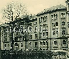 Historische Ansicht der Klosterschuledes Klosters St. Johannis im Holzdamm - errichtet 1874.