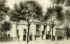 Historische Ansicht vom Restaurant Alsterhof in Hamburg Ohlsdorf.