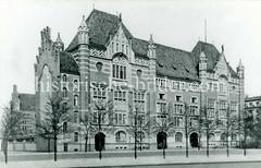 Historische Ansicht der Fernsprechzentrale in der Schlüterstraße Hamburg Rotherbaum.
