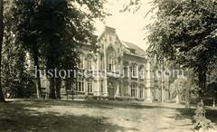 Historische Ansicht vom Lessing-Gymnasium / Lyzeum in Hamburg Harburg.